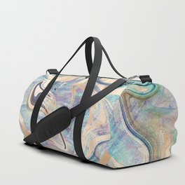 Liquid Bronze Mermaid Sea Marble Duffle Bag
