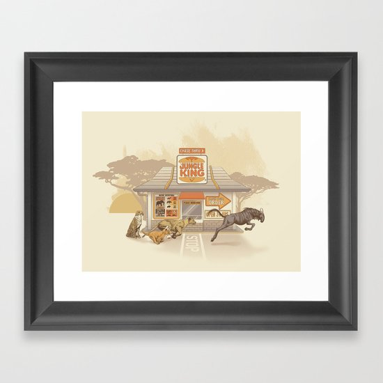 Fast Food (Jungle King) Framed Art Print