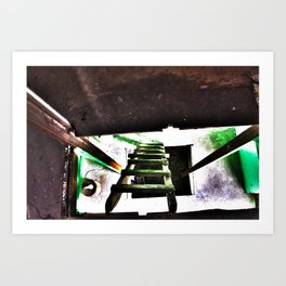 ladder going up or down Art Print