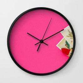 Pink Lipstick Wall Clock