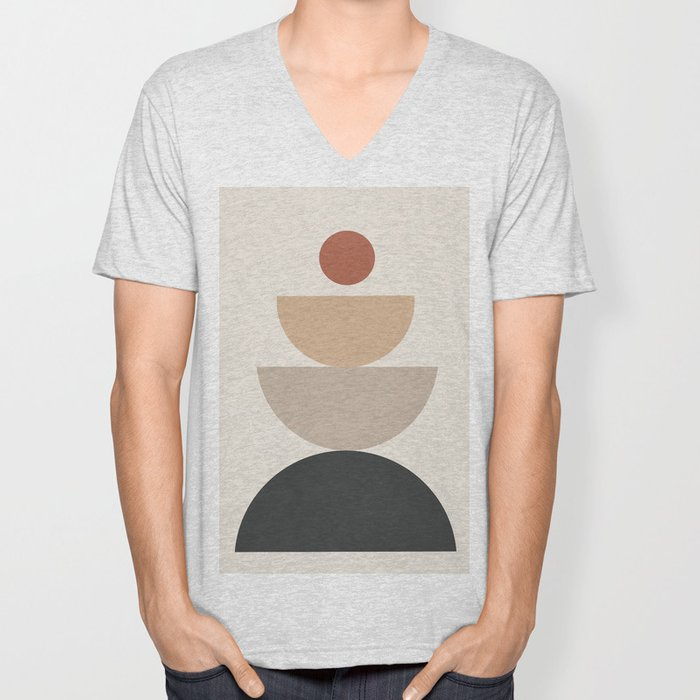 Geometric Modern Art 31 Unisex V-Neck