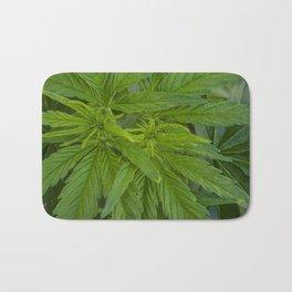 Cannabis Leaves Bath Mat