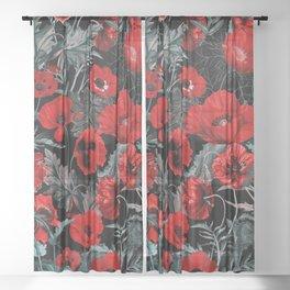 Poppy Garden Sheer Curtain