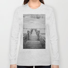 Old Dock Hyannis Port Cape Cod Ma Long Sleeve T-shirt