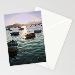 Sunrise in Baiona Galicia Stationery Cards