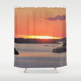 Swedish Archipelago Sunset Shower Curtain