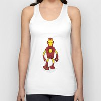 bender Tank Tops featuring Iron Bender by Andy Whittingham