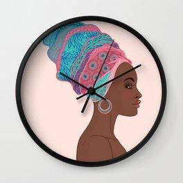 beautiful girl Africa Wall Clock