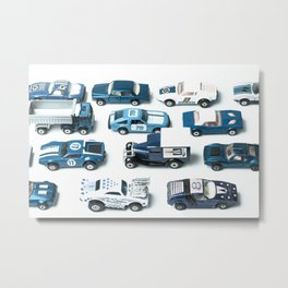 Its A Parking Lot Out There... Blue Metal Print