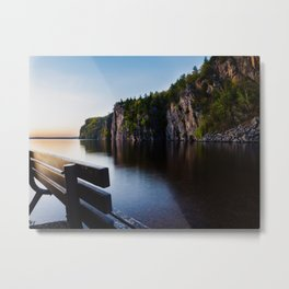The Cliffs at Bon Echo Metal Print