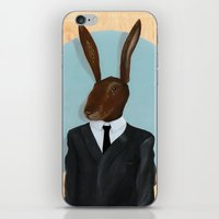 david lynch iPhone & iPod Skins featuring David Lynch | Rabbit by FAMOUS WHEN DEAD