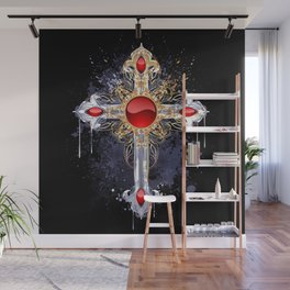 Gothic Cross Wall Mural