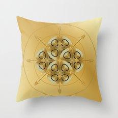 Circle Study No. 457 Throw Pillow