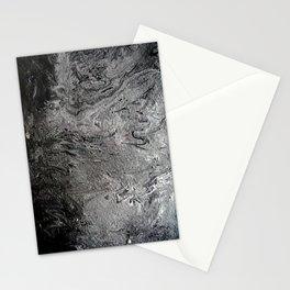 Black Lava II Stationery Cards