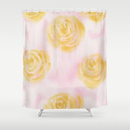 Soft Pastel Florals Shower Curtain