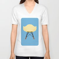 eames V-neck T-shirts featuring Eames RAR by don't worry be happy