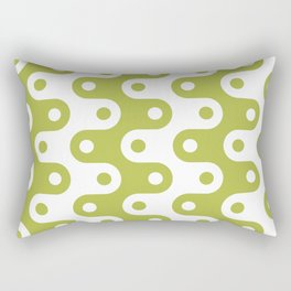 Mid Century Modern Chain Pattern Chartreuse Rectangular Pillow