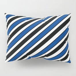 TEAM COLORS 1…Black, navy and white team  colors Pillow Sham