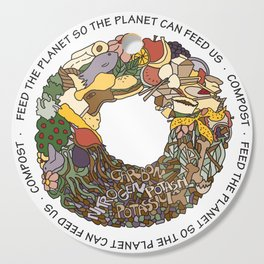 Feed the Planet Composting Wheel Cutting Board