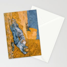 Noon – Rest from Work by Vincent Van Gogh Stationery Cards