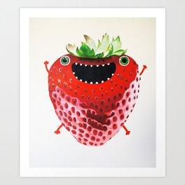 Nice Strawberry Art Print