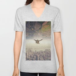 Diving to the Parallel Worlds Unisex V-Neck
