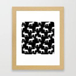 Moose Trot // Black Framed Art Print