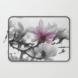 Springtime magnolia painting in nature Laptop Sleeve