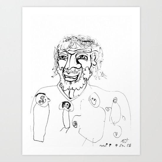 Jesus Loves the Little Children - Collaboration Art Print