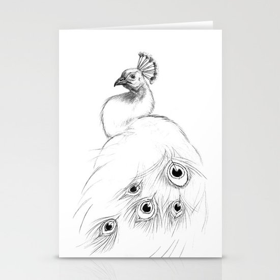 Peacock  SK097 Stationery Cards