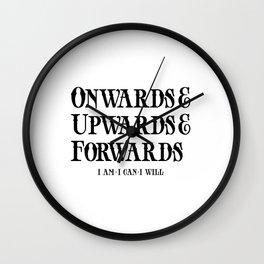 Onwards&Upwards&Forwards Wall Clock
