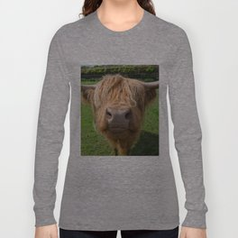 Highland cow nose Long Sleeve T-shirt