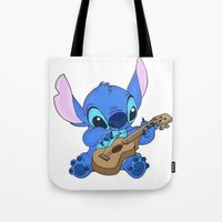 stitch Tote Bags featuring Stitch by Christa Morgan ☽