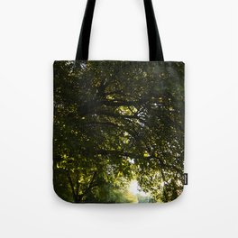 Silhouetted Leaves Abstract II Tote Bag