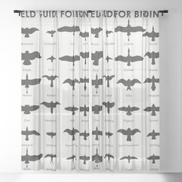 Field Guide for Birding Sheer Curtain