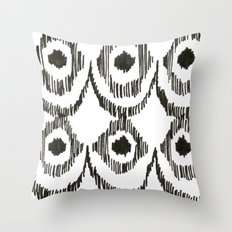 Ikat Sketch Throw Pillow