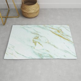 Gold Mint Marbled Rug