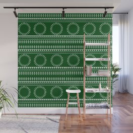 08WA020 Warli Art / Art by Amiee / Painting / Sweet Home / Artist Amiee Wall Mural