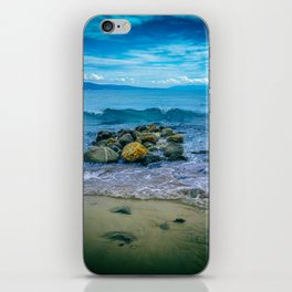 Enjoying summer time in blue, yellow and green. iPhone Skin