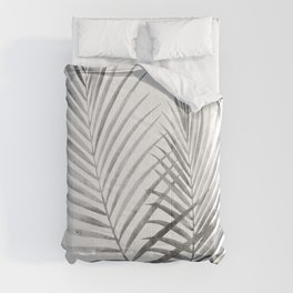 Black and White Palm Fronds Comforters