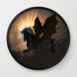 Dark unicorn Wall Clock