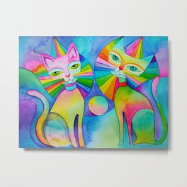 Rainbow Pussies Metal Print