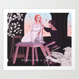 Greek Mythology Pygmalion & Galatea Art Print