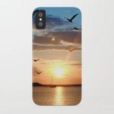 birds over the horizon Slim Case iPhone X