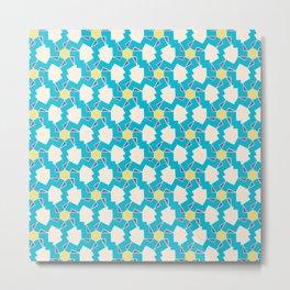 Digital Geometric Motif blue palette Metal Print