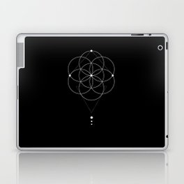 Seed Of Life Geometry Black Laptop & iPad Skin