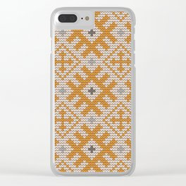 Pattern in Grandma Style #27 Clear iPhone Case
