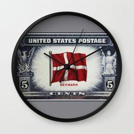 Flag of Demark Wall Clock