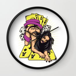 Sexy GIRL ACE with Tattoo Wall Clock