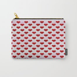 "Rustic ""Tiny Hearts"" Sign Carry-All Pouch"